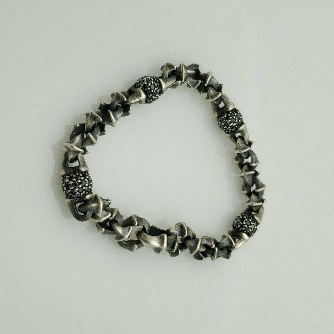 David Yurman Men s Black Diamond Armory Bracelet 3.0 Carats, Size 8  - $950.00
