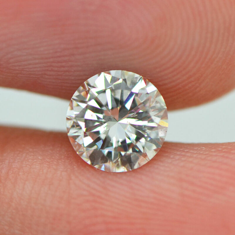 Loose Round Shaped Diamond 0.92 Carat G/si1 Real Certified Enhanced For Ring
