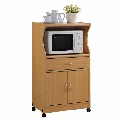 Hodedah Microwave Cart - 2 Shelf - 1 Drawer - 4 Casters - Co
