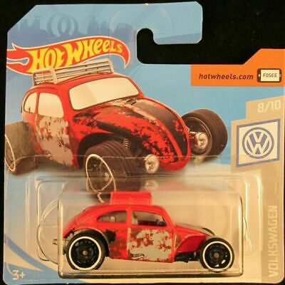 Hot Wheels Custom Volkswagen Beetle #69 RED 2019 new on short card