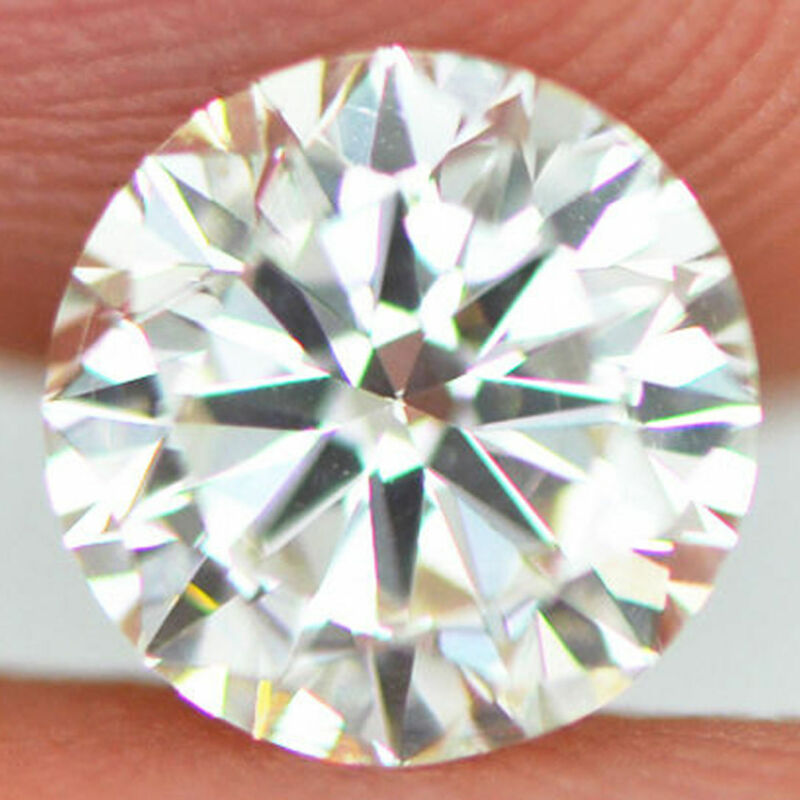 Loose Round Shaped Diamond Certified 1.00 Carat H VS2 Enhanced Real For Ring