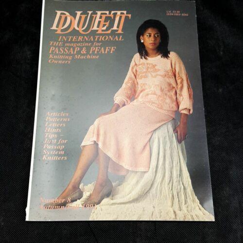Duet International Magazine patterns Passap Pfaff Knitting Machines Fall 1991