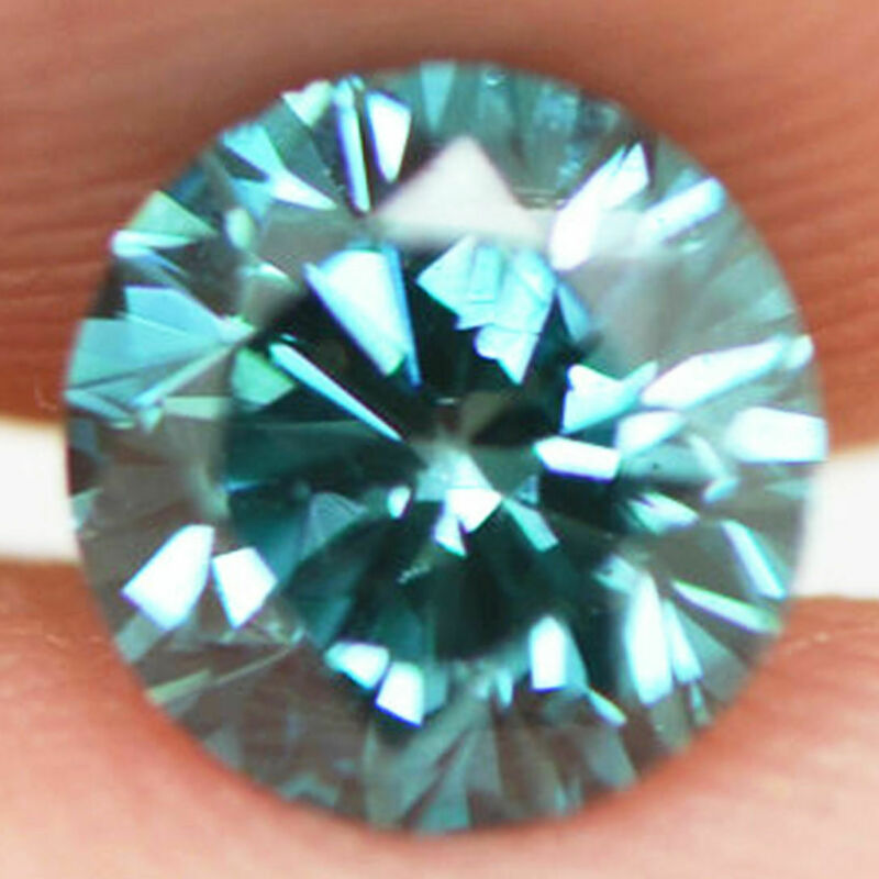 Blue Real Diamond Round Shape Vs1 Certified 0.81 Carat Natural Enhanced For Ring