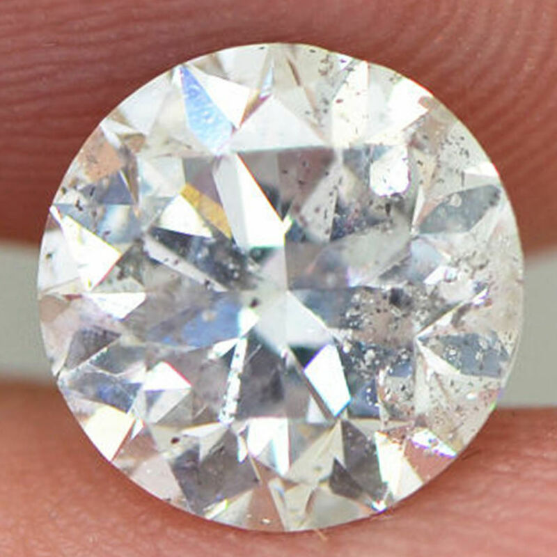 Round Shape Diamond Loose 2.04 Carat F/si2 Certified Enhanced Natural For Ring