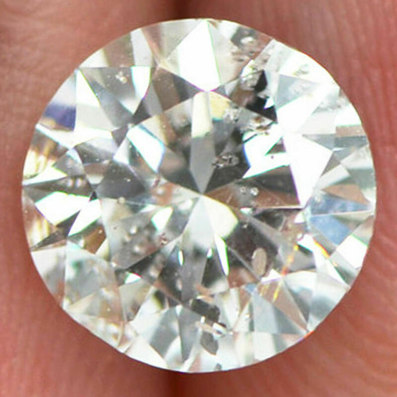 Loose Round Cut Diamond White 2 Carat D/SI2 Natural Enhanced Real Earth Mined