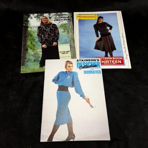 Lot of 3 Passap Duomatic Pattern Books Denys Brunton Atkinson Sweaters Dresses