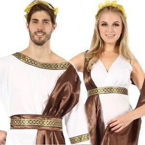Bronze Adulte Dieu Grec et Goddess Couples Costume Déguisement Empereur Romain   eBay