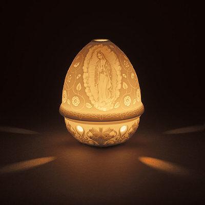 LLADRO LITHOPHANE VOTIVE LIGHT ''OUR LADY OF GUADALUPE'' BNIB #17367 SAVE$$ F/SH