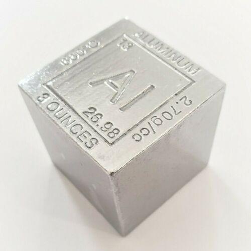 3 Ounce .999 Fine Aluminum Elemental Cube - 1.25