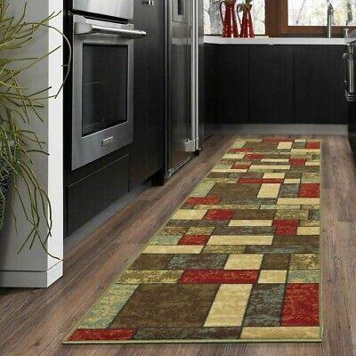 """Checkered Runner Rugs Non-Slip Backing Kitchen Carpet Area Floor 20""""X59"""" Design"""