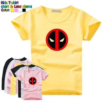 Marvel Comics Deadpool Symbol Kids T-Shirt Gift For Boys Girls Graphic Tees