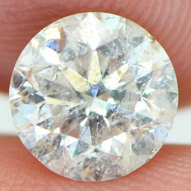 Loose Real Diamond Round Brilliant 1.61 Carat Natural Enhanced H/si3 For Ring