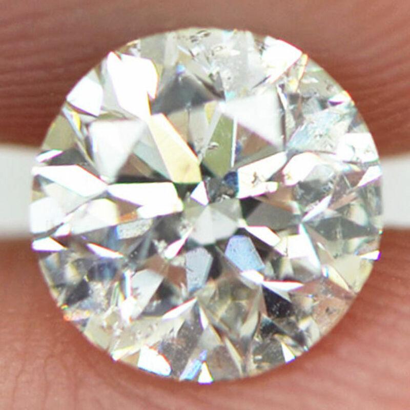 Natural Loose Diamond Round Brilliant Cut Real 0.96 Carat G SI1 Clarity Enhanced