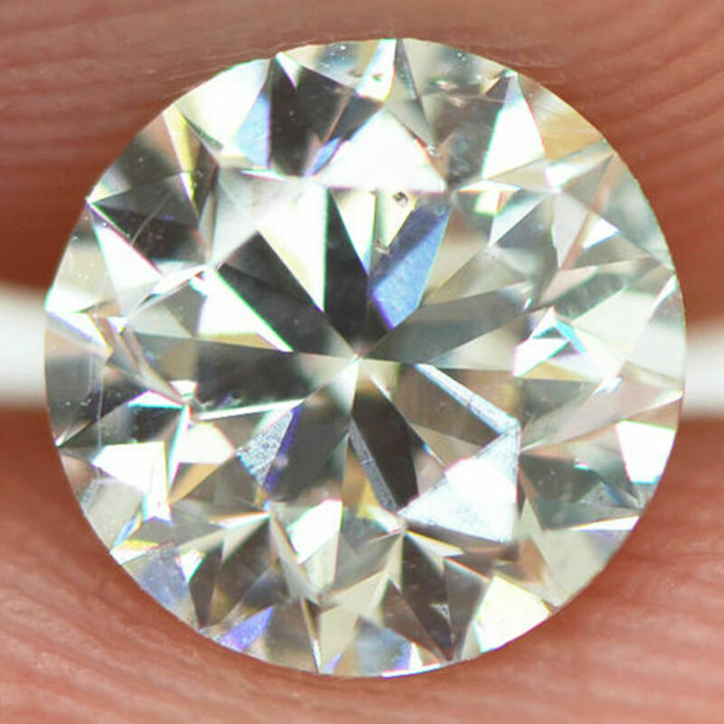 Loose Round Shaped Diamond Real 1.03 Carat H/vs1 Certified Enhanced Eye Clean