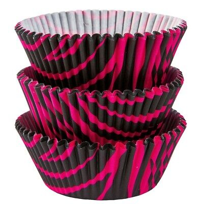 Standard Size Cupcake Liners Baking Cups, Black Pink Zebra](Pink And Black Cupcake Liners)