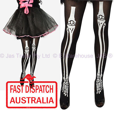 Halloween Costume Fancy Dress Leg Wear Tights Pantyhose xray skeleton bone - Tight Black Dress Halloween Costumes