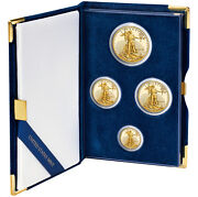 4 Coin Proof Gold American Eagle Set
