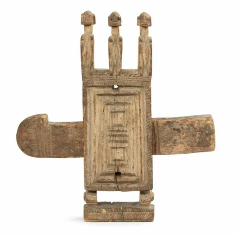 Dogon Wood Door Lock, Ex Crocker Art Museum