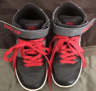 Nike SB Mogan Mid 2 JR B Kid Skateboard 645025-002 Red/Black Shoes Size 1Y