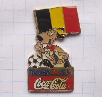 COCA-COLA / WORLD CUP USA 94 MASCOT STRIKER BELGIEN  ..... Pin (132f)