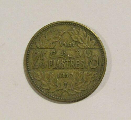 Lebanon 1952 25 Piastres Coin
