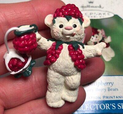 RASPBERRY - Fairy Berry Bears - #3 Final in Series HALLMARK ORNAMENT 2001 Box - Raspberry Sprite