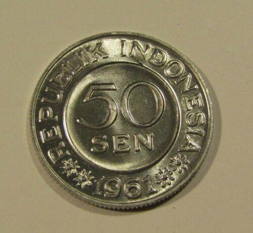 Indonesia 1961 50 Sen unc Coin