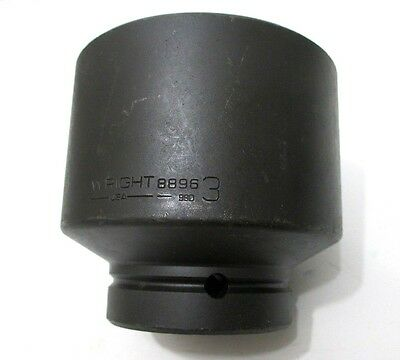 Wright Tool 8896 3 Impact Socket 1 Drive 6-point 3 In. Standard Made In Usa
