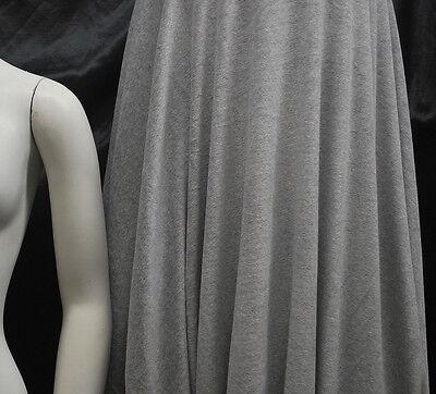 Cotton Velour Knit Fabric Luxurious kid wear super soft extra plush Heather Gray