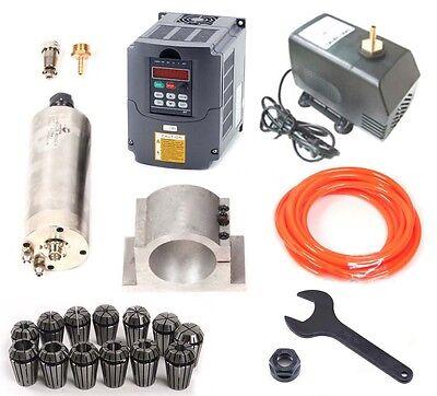 2.2KW Wassergekühlte Fräsmotor / Spindel / Frässpindel+VFD Frequenzumrichter