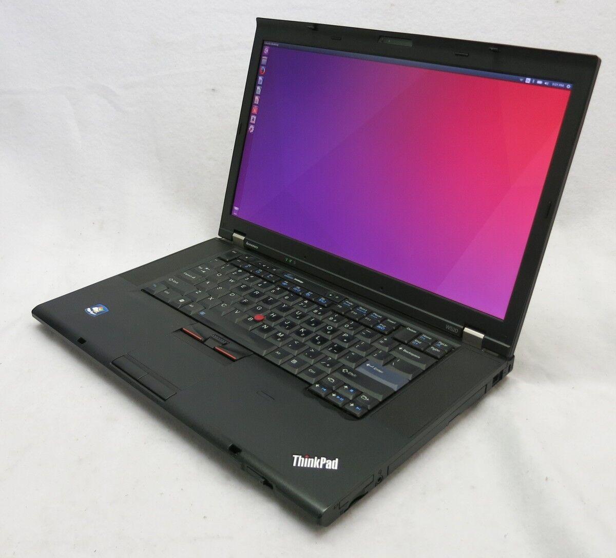 """ThinkPad W520 15.6"""" i7 2720QM 2.2 12GB Quadro 2000 256GB SSD Linux Laptop #25"""