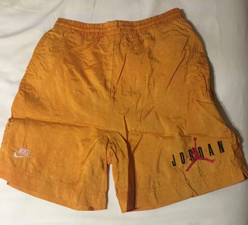 Rare Nike Air Jordan Vintage Jumpman Nylon Shorts Trunks Boys Size M (10-12)