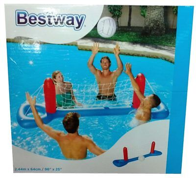 BESTWAY INFLATABLE SWIMMING POOL FLOATING VOLLEYBALL PLAY SET GAME CENTER for sale  Shipping to Canada