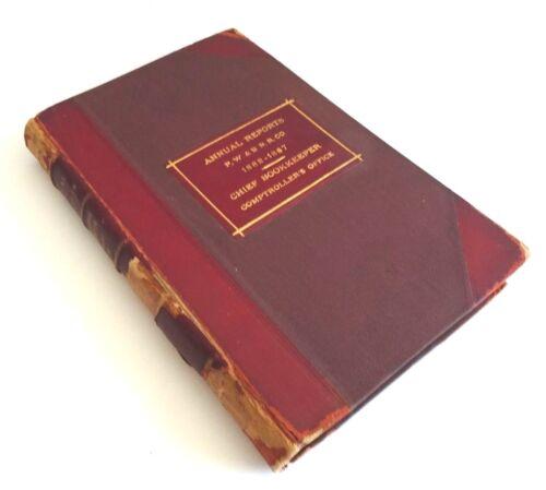 Antique 45TH ANNUAL REPORTS PHILADELPHIA WILMINGTON & BALTIMORE RAILROAD 1882-87