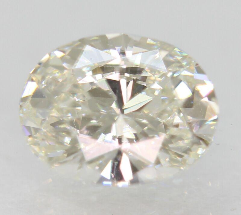 Certified 0.63 Carat G Color VVS1 Oval Natural Loose Diamond 6.31x4.89mm 2VG