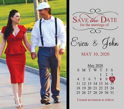 Large Save the Date Wedding Invitation Magnets Favors with Photo