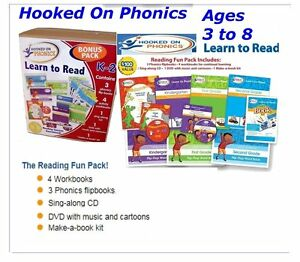 Hooked on Phonics Learn to Read Pre K 1st 2nd grade Fun Bonus Pack $100 value