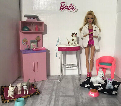 Barbie Playset 💕 Pet Vet With Furniture, Doll & Accessories