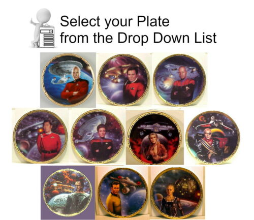 Vintage Star Trek Power of Command Plate Collection - Your Choice or Set of 10