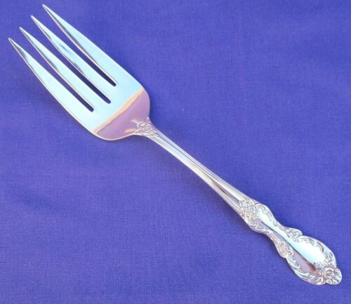 WM ROGERS MFG CO EXTRA  PLATE VALLEY ROSE SERVING FORK GLOSSY NICE SILVER PLATE