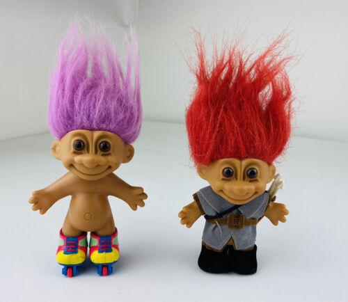 Lot Of 2 Vintage Russ Troll Dolls - $19.99