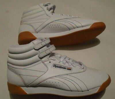 New  Reebok Freestyle Hi Pride Women's Size 8 Leather Shoes Rainbow Stitching