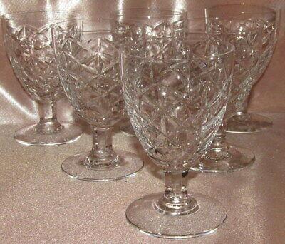Serie Di 6 Bicchieri Da Porto Bicchierini IN Cristallo Sfaccettato