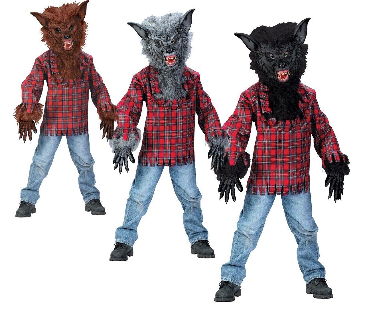 Werewolf Child Costume Large 12-14 Black | eBay