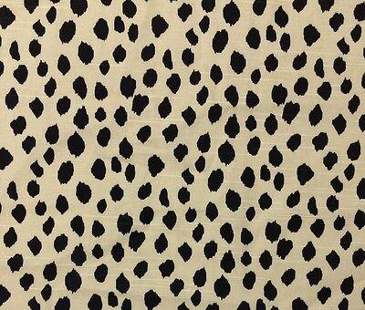Ballard Designs Dodie Beige Black Spots Multiuse Designer Fabric By Yard 56 W