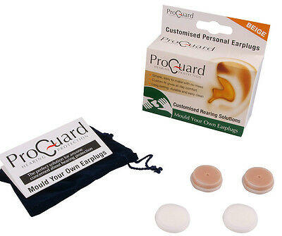 Proguard Mould Your Own MYO Earplugs effective to 24dB Beige DJ Music Musician