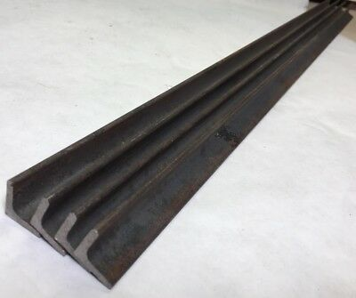 Lot Of 4 Steel Angle Plate .130 Thick 34x 34x31long Steel Plate E49