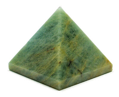 PYRAMID - AQUAMARINE 25-30mm Crystal with Pouch & Description - Healing Stone