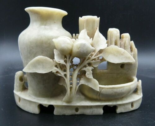 Stunning Chinese soap stone Qing dynasty carving, 19th century