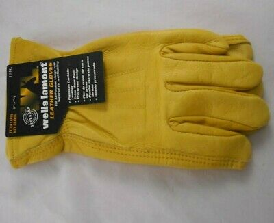 Wells Lamont Premium Cowhide Leather Work Gloves M L Xl
